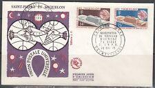 St Pierre & Miquelon Scott 397-8 FDC - 1970 UPU Headquaters Issue