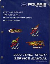 2002 POLARIS SNOWMOBILE TRAIL SPORT SERVICE MANUAL P/N 9917362 (641)