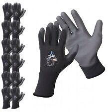 Glovbe 612 Pairs Polyester Work Garden Mechanic Constructionsafety Gloves
