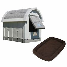 Asl Solutions Grey Insulated Dog Palace & Bed Combo * Free Shipping *