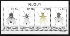 Faroe Islands 2018 Insects, Various Flies, Minisheet, Mnh / Unm