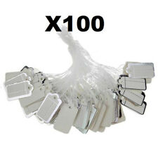X100 Silver Label Tie String Jewelry Clothing Watch Tickets Display Price Tags@