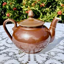 Vintage Pillivuyt France Brown Lustre Teapot