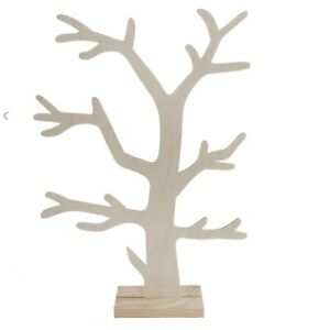 Wooden Jewellery Stand Tree Display Organiser / Earring Necklace Holder 3mm MDF