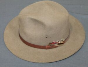 ORVIS Field/Trail Fedora Hat *5X Felt* NWOT (size Medium)