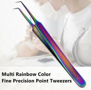 False Eyelash Extension Tweezers Beauty Tool Face Hair Removal Multi Color