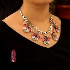 Collar Plateado Rosa Gris Abeja Retro Moderno Original Matrimonio Regalo SD 5