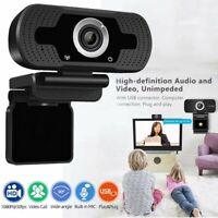 1080P HD Webcam Autofocus USB Computer Camera With Mic for Desktop PC