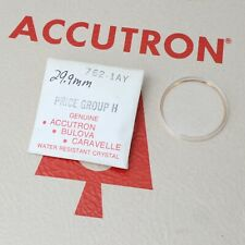 Bulova Accutron Watch Crystal 29.9mm Part #762-1AY New Old Stock Armored Yellow
