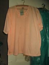 LADIES PEACH (LUCKY da,T-shirt)  TOP,  T SHIRT MATERIAL  SIZE 50/52 NEW