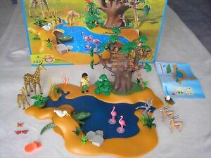 Playmobil 4827 * Afrika große Wasserstelle * Giraffe Krokodil Flamingo Gemse *