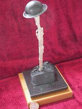 WW1 Inverted Rifle SMLE Brodie Helmet Memorial Display Piece