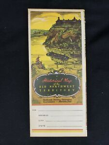 Historical Map of the OLD NORTHWEST TERRITORY WPA 1940s vintage