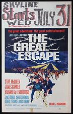THE GREAT ESCAPE STEVE McQUEEN JOHN STURGES 1963 WINDOW CARD