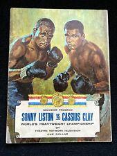 ORIGINAL 2/25/1964 CC PROGRAM SONNY LISTON VS CASSIUS CLAY
