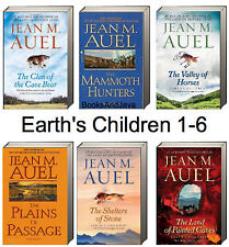 JEAN AUEL Earths Children Value Set 1-6 (tp,pb)  Clan Cave Bear,Mammoth Hunters+