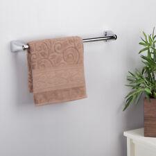 "Luxury Bathroom Straight Towel Rail - Wall Mounted - Polished Chrome - 18"""