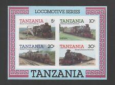 TANZANIA 1985 RAILWAY STEAM LOCOMOTIVES (1st) M/SHEET *VF MNH* IMPERF!
