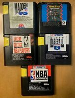 Sega Genesis - Sports Games - Lot of 5 (Madden, NBA, MLBPA)