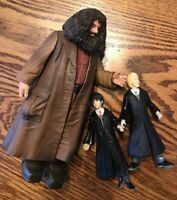 Harry Potter, Ron Weasley and Rubeus Hagrid Action Figures Mattel 2001 Warner Br