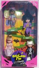 Barbie HALLOWEEN FUN Li'l Friends of Kelly Diedre Jenny Tommy 1998 Mattel 23796
