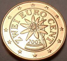 Pièces euro d'Autriche pour 2 Euro année 2002