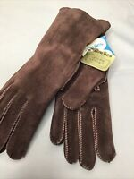Fownes Genuine Leather  Fleece Lined Women's Gloves Brown Large ( Runs Small )