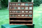 Vintage Hardware Store Cubby Cabinet Box Nuts Bolts Old Farmhouse Country Decor
