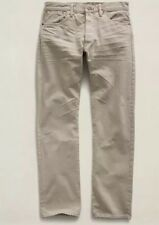Mens RRL Ralph Lauren 33x32 Selvedge Low Straight Jeans Raw Slim Cream White 34