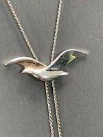 Avon Seagull Bird Lariat Necklace Silver Tone Metal Ocean Sea Dainty Vintage