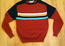 Vintage Gloria Vanderbilt Men's Sweater Large Red and Black Large