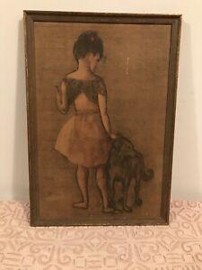 "Pablo Picasso - ""Fillette Au Chien Little Girl And Dog"""