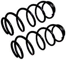 2X FIAT PANDA 169 1.3 D Multifiamme 4X4 Anteriore Molle A Spirale 2004-On