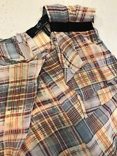 CUE WOMENS BLOUSE SLEEVELESS CHECK ALINE MADE IN SU WOTK SZ 8