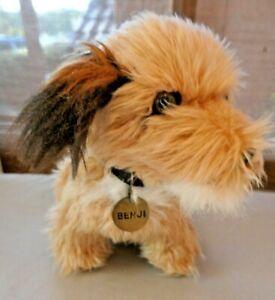 Vintage Dakin Benji plush stuffed soft toy dog 1980s with collar & tag