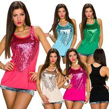 Ärmellose Damenblusen,-Tops & -Shirts mit Baumwolle ohne Muster für Freizeit