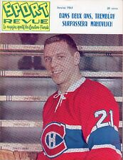 1963 (Jan.) Sport Revue Hockey Magazine, Gilles Tremblay, Montreal Canadiens~ VG