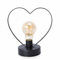 Home Decor Heart Shape Table Decoration Night Light LED Bulb Desk Lamp Gift