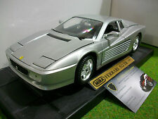 FERRARI 512 TR COUPE 1991 gris au 1/18 MIRA 6174 voiture miniature de collection