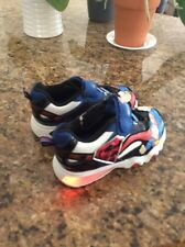Sz 10 Med Boys Light-Up Superman Man Of Steel Shoes New red white blue