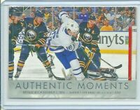 2016-17 UD SP Authentic Authentic Moments Mitch Marner #113 Toronto Maple Leafs