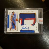 2019-20 National Treasures Matisse Thybulle Bronze RPA Rookie Patch Auto /49 RC