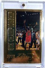 1996 96 Upper Deck 6th Championship 22 Kt Gold Michael Jordan, HOF, #'d/7223
