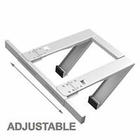 Drill-Less Universal Window Air Conditioner Bracket - 2pc HD- Up to 180 lbs.