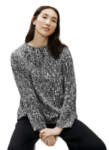 New $198 Eileen Fisher Prizm 72% Silk 28% Organic Cotton Box Top Size M/M NWT