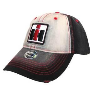 Case IH Faded Black and Grey Distressed Hat 14IH066-YTH