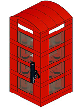 British Phone Booth Custom Lego INSTRUCTIONS ONLY London England