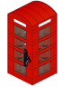 British Phone Booth Custom Lego INSTRUCTIONS ONLY