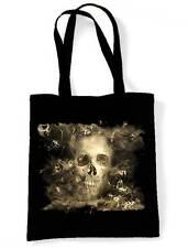 SMOKE SKULL SHOULDER  SHOPPING BAG - Goth Gothic Horror Halloween