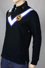 Ralph Lauren Medium M BLACK WHITE SNOW CHALLENGE CUSTOM  RUGBY POLO NWT $165